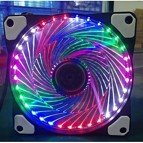 120mm LED Radiator Ultra-Quiet PC Cooling Fan Multicolored