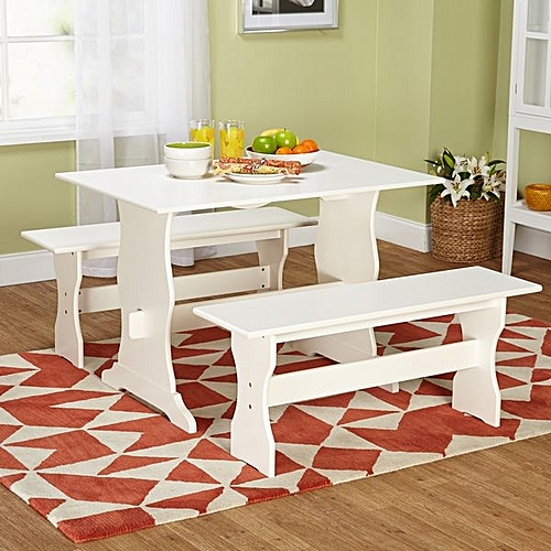 Three- Piece Dining Set- White(LAGOS DELIVERY ONLY)