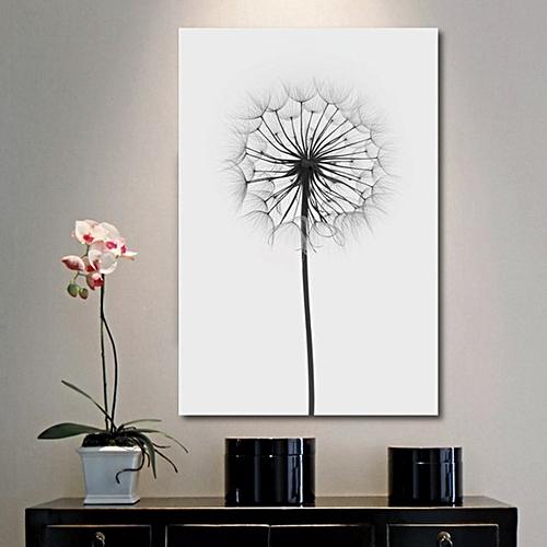 Minimalism Dandelion Canvas Print Art Painting Wall Picture Poster Home Decor- 30X21cm-Black+White