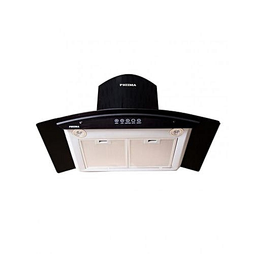 90 CM CURVED GLASS DUCTLESS HOOD(BLACK) WITH REMOTE