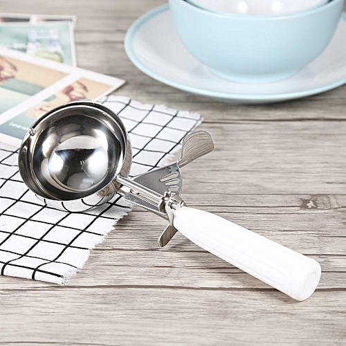 Practical Stainless Steel Ice Cream Scoop Spoon With Plastic Handle (8cm)