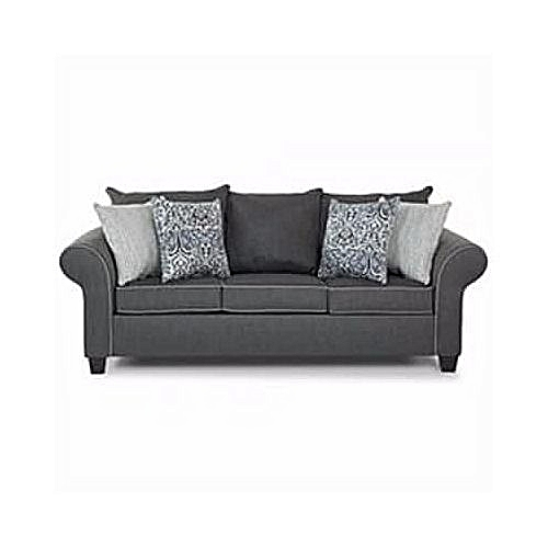 OMEGA FURNITURE SUPER GRAY 7 Seater Sofa. 'ORDER NOW AND GET A FREE OTTOMAN'(Delivery To Only Lagos Costomers).