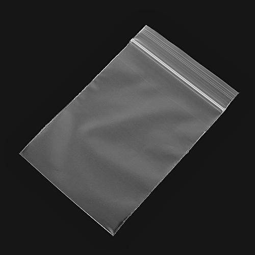 100Pcs 8x12cm Clear Plastic Zip Lock Bags Reclosable Storage Packaging Zipper Bags