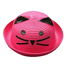 ab562fb768e Paidndh Store Summer Baby Hat Cap Children Breathable Hat Straw Hat Kids  Cartoon Cat Hats Caps