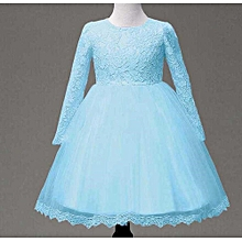 fa03ae183e61 Kids Baby Girl Long Sleeve Princess Lace Flower Pageant Wedding Party  Dresses Musiccool