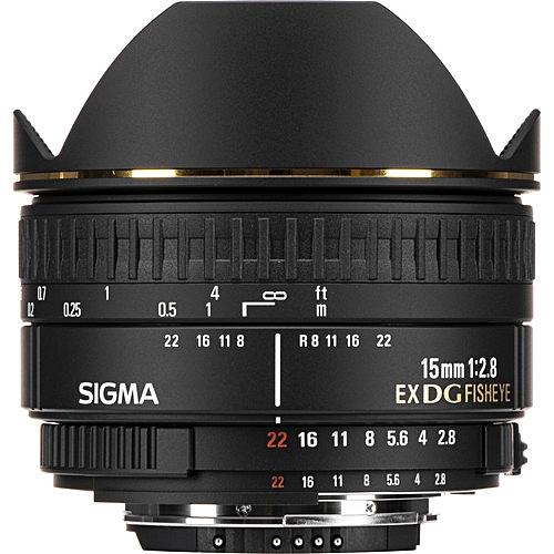 15mm F/2.8 EX DG Diagonal Fisheye Lens For Nikon F