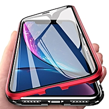 IPhone XR Case, 360° Full Body Tempered Glass With Magnetic Metal Bumper Case Cover