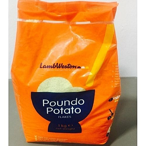 Poundo Potato Flakes - 2 Packs Of 1 KG