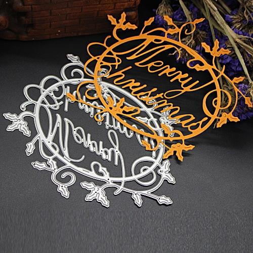 Merry Christmas Metal Cutting Dies Stencils Scrapbooking Embossing DIY Crafts I