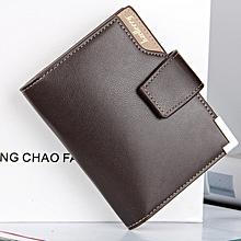 Baellerry Wallet Men Leather Short Purse Male Clutch Business Money Bag