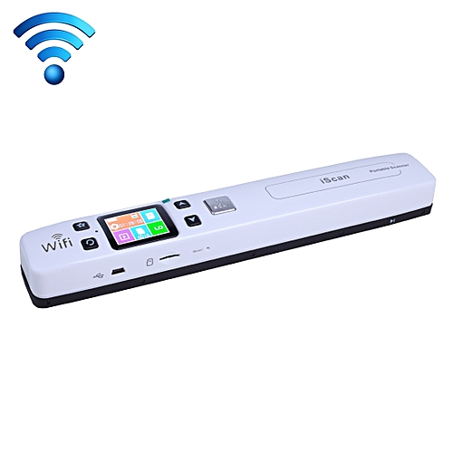 IScan02 WiFi Double Roller Mobile Document Portable Handheld Scanner With LED Display, Support 1050DPI / 600DPI / 300DPI / PDF / JPG / TF(White)