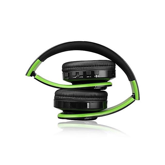 ... Wireless Bluetooth Foldable Headset Stereo Headphone Earphone For IPhone Samsung Green ...
