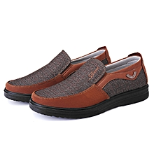 035c6aaf853b4 Men Shoes Casual Antiskid Loafers Leather Round Toe Shoes