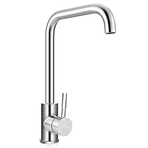 Stainless Steel Kitchen Sink Faucet - Platinum