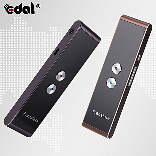 EDAL Portable Smart Speech Translator Two-Way Real Time 30 Multi-Language Translation For Learning Travelling Business Meeting QLANG