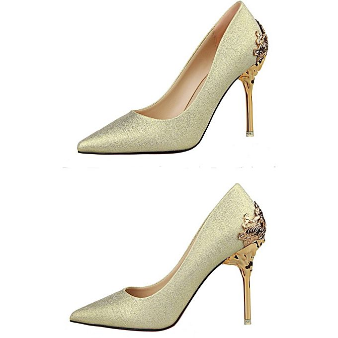 Zhen Wei Mei Women High Heel Shoes - Light Gold | Buy online ...
