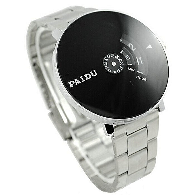 Buy Mcykcy Stainless Paidu Quartz Black Turntable Dial