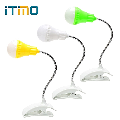 ITimo USB LED Desk Lamp Bedside Table Computer Light Clip-on Portable Reading Bulb Eye Protection Book Reading Light For Student