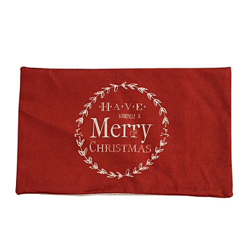 Africanmall Store Christmas Pillow Sofa Waist Throw Cushion Cover Home Decor RD-Red