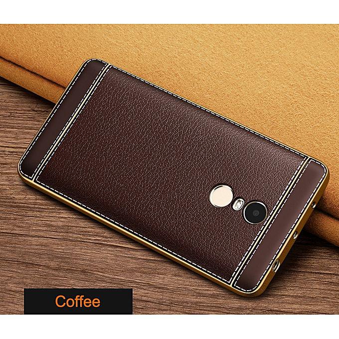 Universal leather skin soft tpu case for xiaomi redmi note