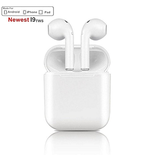 544533265a1 Generic Mini I9S TWS Airpods Wireless Bluetooth Earphone Earbuds With Mic  Not Airpods For IPhone Samsung Android Dropshipping (White) WWD