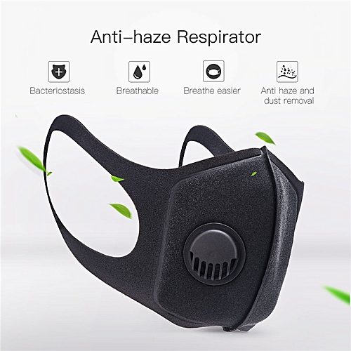 Face Mouth Mask PM2.5 Anti Haze Dust Pollution Respirator Reusable Mouth Mask With Breathing Valve
