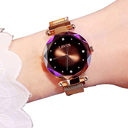 Ladies Wrist Watches Mesh Band Starry Dial Quartz Watches