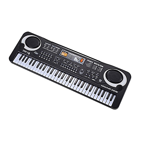 61 Keys Electronic Piano Keyboard With Microphone Children Musical Instrument