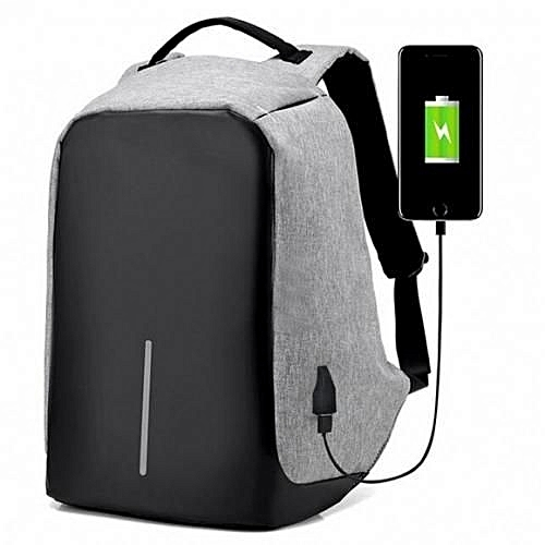 a440416015ce KODDS Anti Theft Smart Bag Security Travel Backpack   Laptop Bag With USB  Charging Port- B08- Grey