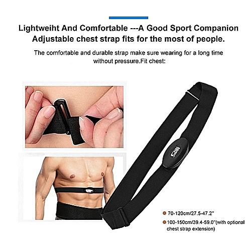Smart Sport Chest Strap Adjustable Bluetooth Fitness Wireless Heart Rate Monitor Sensor Chest Strap For IPhone/Samsung