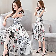 Korean-style Female Summer New Style Suihua Skirt Chiffon Dress