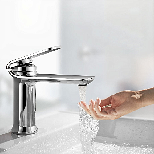 Single Handle Cold Hot Water Mixer Tap Brass Bathroom Kitchen Basin Faucet One Hole Deck Mount