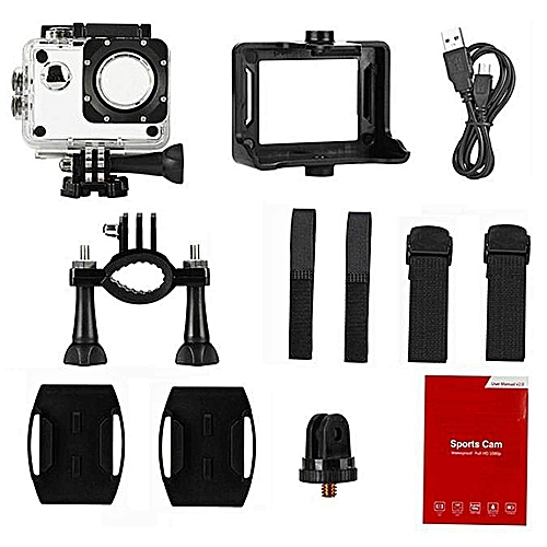 Mini Waterproof Sports Recorder Car DV Action Camera Camcorder 1080P HD BK