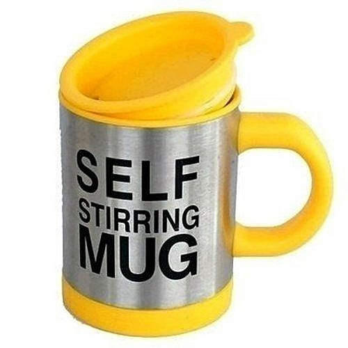 Home Choice Self Stiring Mug - Yellow