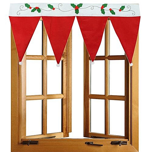 Christmas Home Decoration Door Window Curtain