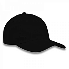 b139bfb80e5 Plain Black Face Cap With Adjustable Strap