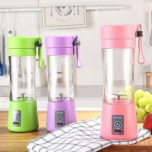 Rechargeable Blender With USB Port - Multicolour