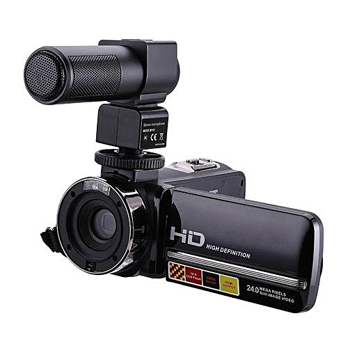 HDV-301M 1080P 16X Digital Zoom 3 Inch Touch Screen Portable LCD HDV Video Camcorder With Microphone Black
