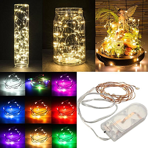 10PCS Yellow Power-saving Eco-friendly 1M 10LED Battery Copper Cable Wire Mini Fairy String Light Xmas Party Waterproof