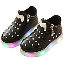 cd994f177d Shoes Children  039 s Shoes Girls Colorful LED Lighting Flash Black
