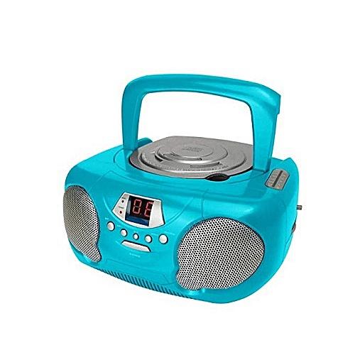 Boombox Retro Portable CD Player With Radio Blue