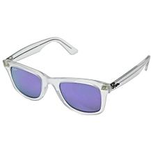 52e55894b40 Ray-Ban Wayfarer Ease RB4340 50mm - One Size - Matte Transparent Grey Mirror