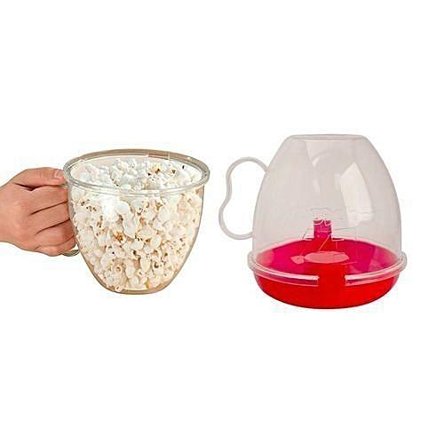 EZ Popcorn Microwave Popcorn Maker-red
