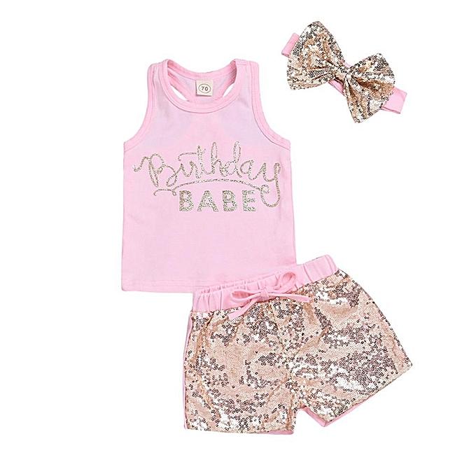 a36db7c66 Fashion Kid Summer Infant Baby Girls Sleeveless Vest Tops T-Shirt + ...