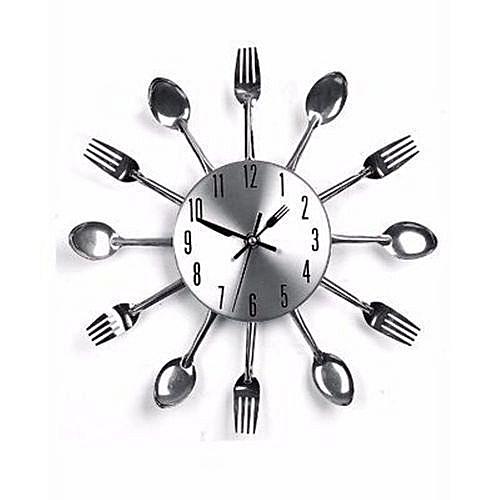 Cutlery Kitchen Wall Clock - Er