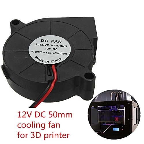 Muliawu Store 12V DC 50mm Blow Radial Cooling Fan Hotend / Extruder For RepRap 3D Printer-Black