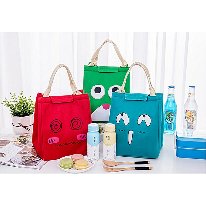 Cute Expression Insulated Lunch Box Bag