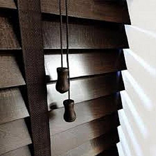Wooden Venetian Window Blinds (Walnut) Prepaid Only