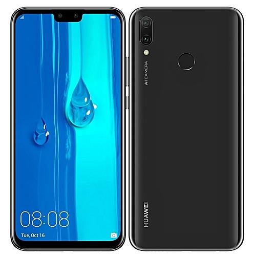 Y9 (2019) 6.5-Inch (4GB + 64GB ROM) 4000MAh 8.1 Oreo, (16MP + 13MP) Dual SIM LTE - Midnight Black