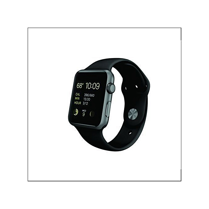 new concept 4d288 74ad3 IWatch Series 1 38mm Smartwatch (Space Gray Aluminum Case, Black Sport Band)